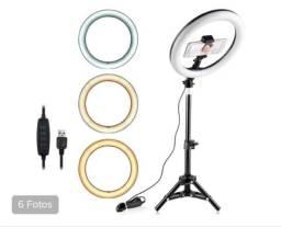 Ring light 10 polegadas 26 cm com tripé de 2 metros (produtos novos)