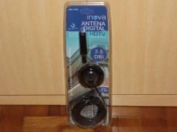 Antena digital excelente qualidade 4m de cabo abre todas as imagens produto novo