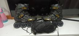 Patins da Oxer e kit de proteção mormaii