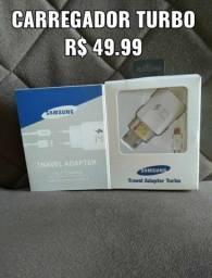 Carregadores Turbo Samsung e Motorola  Tipo-C e V8