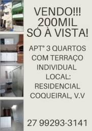 Apartamento 3 quartos com terraço individual