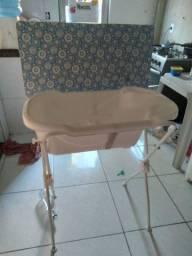Banheira Com Trocador New Floripa - Tutti Baby Azul<br><br>