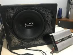 Caixa de Som com alto-falante 10? (Polk Audio) e Módulo 600 rms (Taramps)
