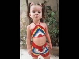 Conjunto crochê criança