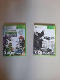 Jogos Plants Vs Zombies Garden Warfare e Batman Arkham City. Xbox 360.