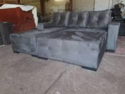 Sofa com chaise mais o Puff