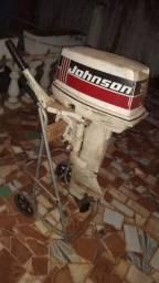 Motor johnson 25hp com defeito