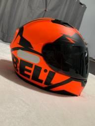 Capacete Bell Qualifier Snow Preto/laranja n58