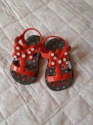 Sandália infantil Minnie Grendene