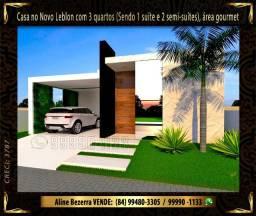 Casa no Novo Leblon com 3 quartos, área gourmet no quintal, ármario de cozinha