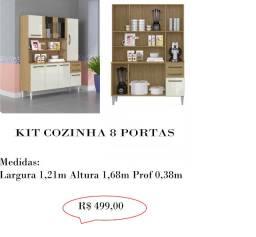Kit cozinha 8 portas 499,00,00