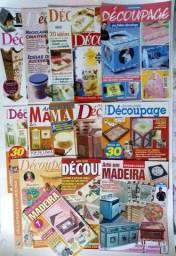 14 Revistas de artesanato - Arte em madeira (diversas técnicas) - usadas