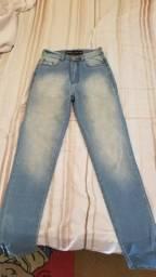 Calça jeans bluestel com zíper nas laterais