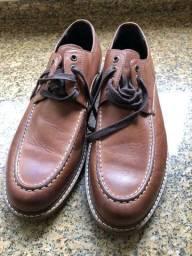 Sapato em couro marrom Perry Ellis  numero 43