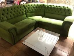 Sofá de Canto + Mesa de Centro