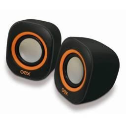 Caixa De Som Speaker Round OEX para PC Notebook