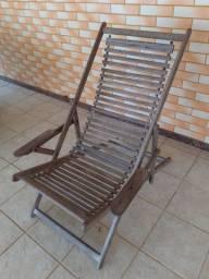 Cadeira espreguiçadeira  de madeira 4 regulagens
