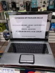 Notebook Hp pavilion D6110