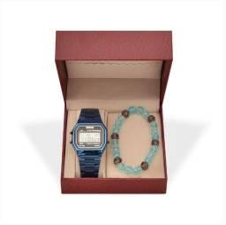 Kit Relógio Unissex Skmei Digital e Pulseira