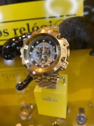Relógio invicta hybrid Skeleton banhado a outon