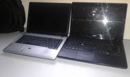 Notebooks Liga mas não da vídeo, Acer, emachines, positivos e Firstline, pra peças