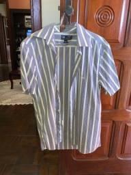 Camisa social manga curta tamanho m