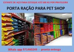 Estante de aço Porta Ração Pet Shop - porta pallets