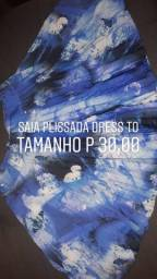 Saia plissada Dress To
