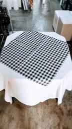 Kit toalhas oxford de mesa quadrada com cobre mancha quadrado