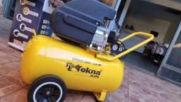 Compressor tekna 50 litros 2,5 Hp sem uso, com nota e garantia, Trindade Go