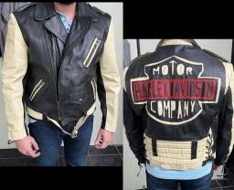 Jaqueta couro legítimo Harley Davidson.