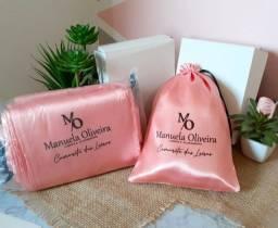 Embalagens, saquinhos e sacolas de cetim personalizadas