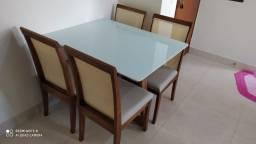 Título do anúncio: Mesa 4 madeira e acabamento laka luxo