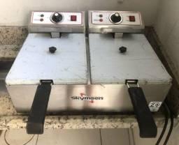 Vende-se fritadeira elétrica com 2 cubas