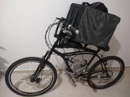 Bike motorizada + bag para entregas