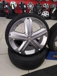 Jogo de roda do astra gsi aro 18 com pneus 185/35/18 novos