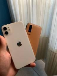 iPhone 11 com nota fiscal e acessórios originais + power bank