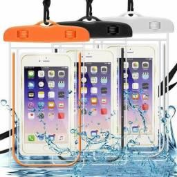 Capa pra celular a prova d'água $15 cada