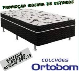 Promoção Cama Box de Solteiro Ortobom 1,88x0,88. Entrega grátis e imediata em toda Macaé.