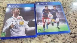 PES 2018 e FIFA 16