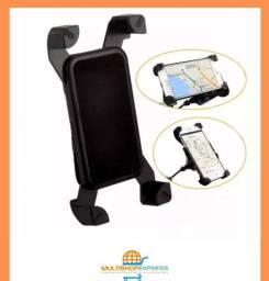 Suporte de Celular C/ Fonte Carregadora USB 2a para Moto