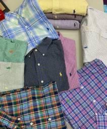 Camisas xadrez Ralph Lauren exclusivas