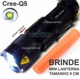 Mini Lanterna Tática Recarregável