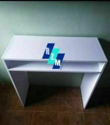Mesa branca  NOVA MDF  escrivaninha/ notebook/manicure/home office