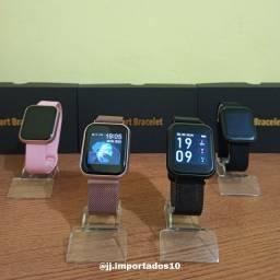 Smartwatch T80S + pulseira metálica de brinde!!!