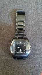 Relógio Police Black, todo em aço