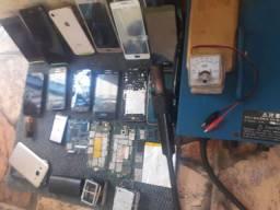 Vendo estação de retrabalho celulares alguns dando sinal