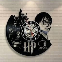 Harry Potter - Relógio Disco De Vinil Decoração