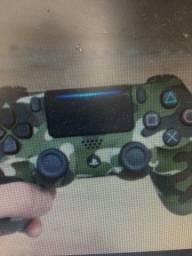 Controle Playstation 4 e PC camuflado