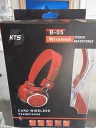 Fone Ouvido Sem Fio Bluetooth Headphone entrada p2